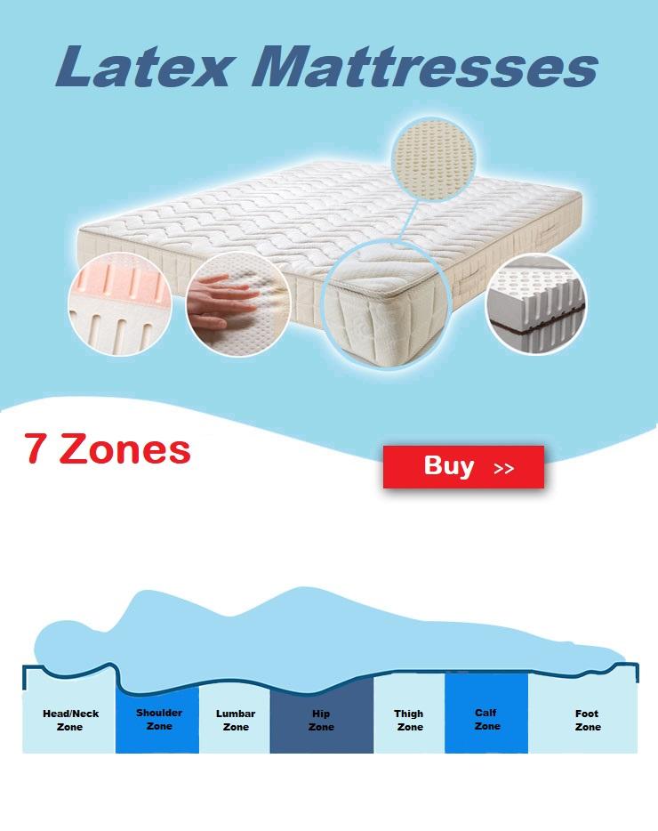 Primo Line 7 Zone Latex Mattresses Buy Online